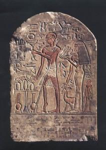 Poliomyelitis gab es schon in der Antike: Darstellung eines Poliokranken, Ägypten 18. Dynastie. © Deutsches Grünes Kreuz. CC BY-SA 3.0.