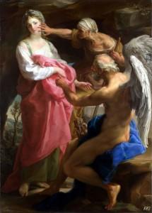 Die Zeit befiehlt dem Alter, die Schönheit zu zerstören, Ölgemälde von Pompeo Batoni aus dem Jahr 1746. © Pompeo Girolamo Battoni. public domain.