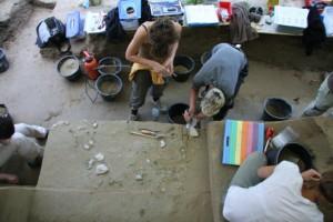 Ausgrabungsarbeiten in Willendorf II. © Willendorf Projekt, Philip R. Nigst und Bence Viola