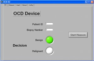 In nur eineinhalb Minuten ermittelt dieser Prototyp eines Diagnosegeräts, ob die Gewebeprobe der Prostata gut- oder bösartig ist. © Fraunhofer IKTS