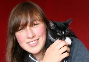 Mädchen mit Katze © Alexandra H.  / pixelio.de