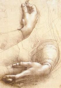 Hände. Leonardo da Vinci (1452–1519). ©  public domain.