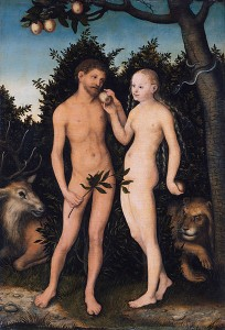 Adam und Eva im Paradies. Lucas Cranach the Elder (1472–1553). © public domain.