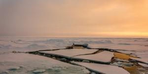 Von Polarstern aufgebrochene Eisschollen. © AWI. Stefan Hendricks.