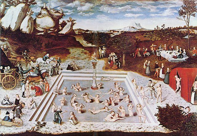Frühere Vorstellung von einem besseren Alter: Das Gemälde Der Jungbrunnen von Lucas Cranach dem Älteren. © public domain