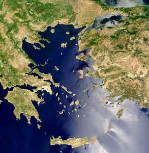 Unsere bäuerlichen Vorfahren wanderten aus der Ägäis in andere Regionen Europas ein. © public domain.