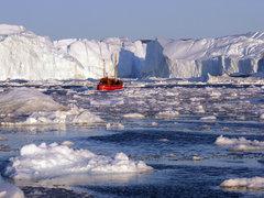 Eisberge in Isfjord Illulissat, SW-Grönland. Seit 1990 hat der Eisverlust Grönlands stetig zugenommen. © Jonathan Bamber, University of Bristol