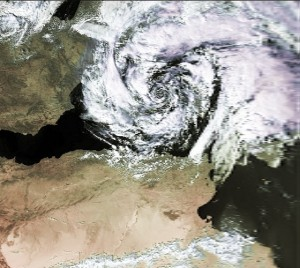Vb-Zyklon. © gemeinfrei Wikimedia Commons.